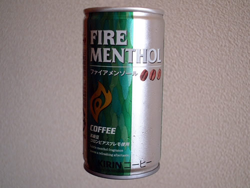 canned coffee fire menthol