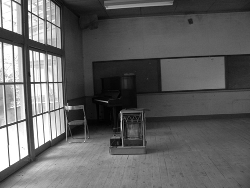 ghost town piano room