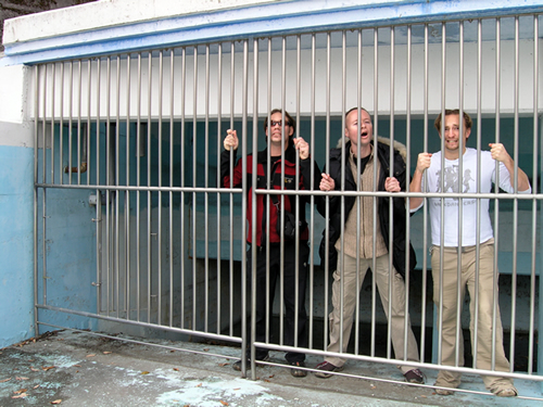 Me, Mike and Jason in wavepool jail