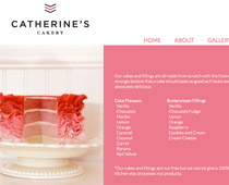 catherine's cakery website responsive
