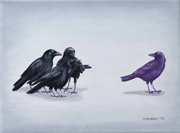 crows bully purple odd bullied different