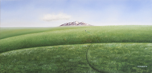 painting lonely mountain path