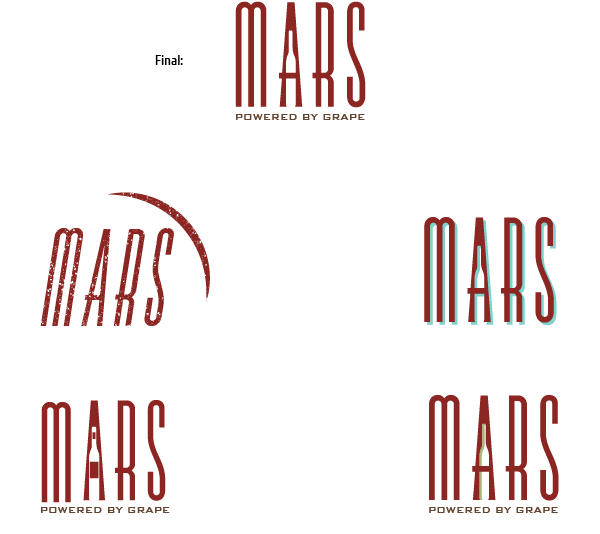mars wine bar logo final and concepts