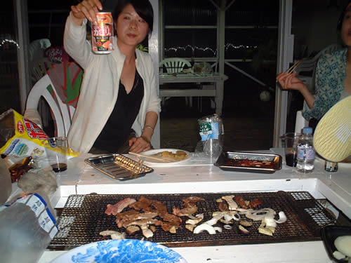 Barbeque in the evening