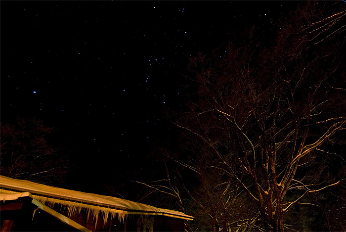 nikko winter night sky stars