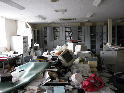 ransacked office haikyo